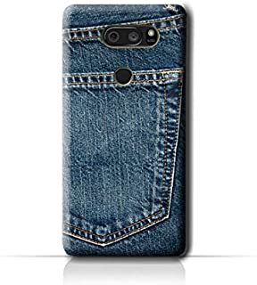 AMC Design LG V30 Plus Jeans Pocket Pattern Case - Blue
