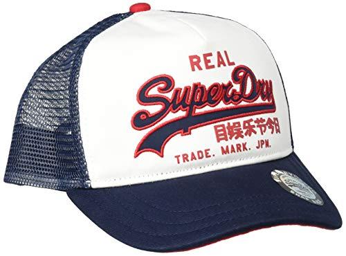 Superdry Herren Vintage Logo Trucker Baseball Cap, Weiß (White 04c), One Size (Herstellergröße: OS)