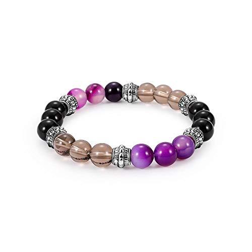 8mm Stretch Naturel Pierre Lava Rock Perles Ronde Guérison Bracelet Bracelet pour Hommes Femmes