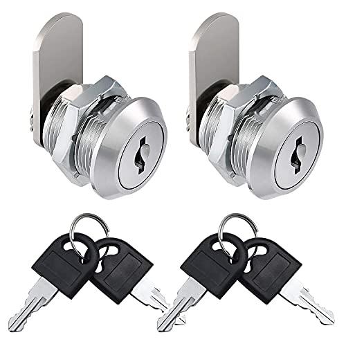 Litensh Cerradura de buzón de seguridad de 5/8 pulgadas, cerradura de buzón de 16 mm, cerradura de leva de gabinete, cerraduras de armario de puerta con llaves