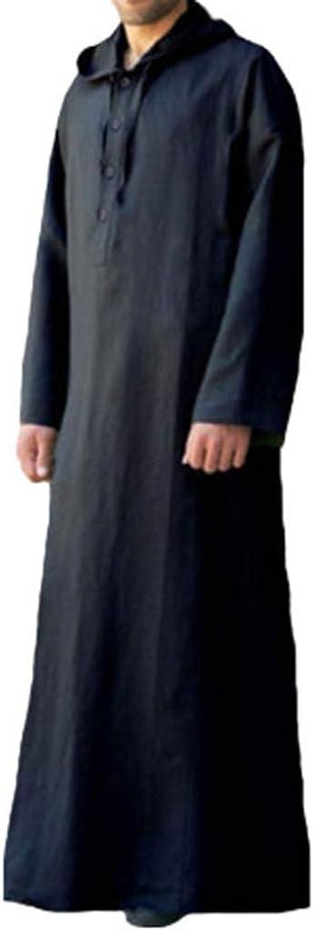 Casual Garb Hoodies for Men Muslim Long Sleeve Middle East Saudi Arab IslamicDress Dubai Robes Sleepwear