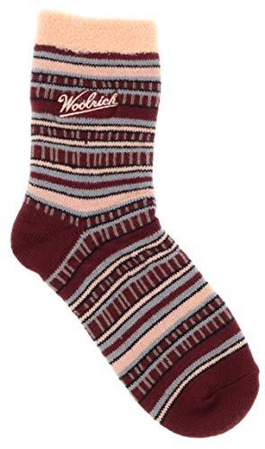 Woolrich Women's Aloe Vera Infused Slipper Socks (Peach Stripe)