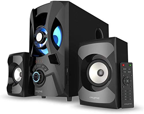 CREATIVE SBS E2900, 2.1 Channel 120W Peak, Powerful Bluetooth Speaker System with Subwoofer for TV, Computers, Laptops