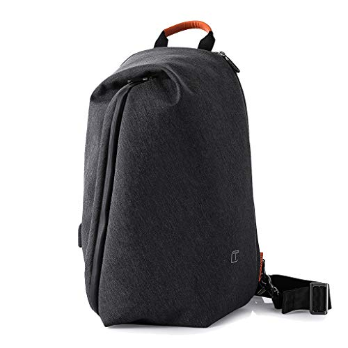 Shiwu Sling Bag 13-inch laptoptas met USB-aansluiting voor het opladen van de borst schouder rugzak anti-diefstal cross body-zakken multifunctionele dagrugzak IPad rugzak