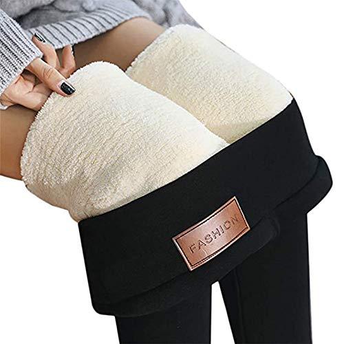 Damen Super Dicke Extra Dicke Lamm Kaschmir Leggings Damenhose Winter Plus Samtdicke All-in-One Hose Mit Hoher Taille Warme Hose Baumwollhose (Color : A, Size : Large)