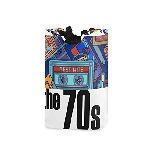 DYCBNESS Cesto para la Colada,Caballos Mecedora Retro Radio 80S Love The 70S Pictograma...