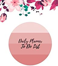Daily planner to do list.: Leaves & cherry blossom pattern. Daily planner for things to do in each day notebook notepads jots and mark in each task ... 120 pages. (Daily to do list.) (Volume 6)