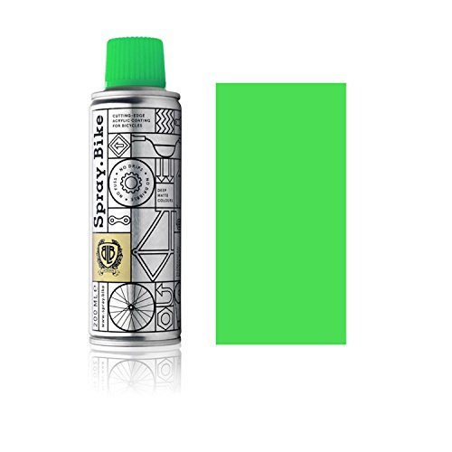 SPRAY.BIKE Fahrrad Lackspray - für detailreiche Arbeiten wie Linien, Schablonen oder kleine Bereiche - Pocket SOLID Kollektion in der praktischen 200ml Dose (Neon Grün)