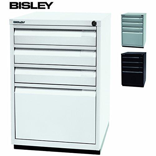 BISLEY Schubladenschrank | Bürocontainer aus Metall | Schreibtischcontainer Serie F | Aktencontainer | Standcontainer in weiß