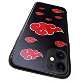 Naruto Akatsuki Phone Case for iPhone 11/iPhone 11 Pro/iPhone 11 Pro Max Japanese Anime Theme Bumper Case Soft Silicone TPU Tempered Glass Protection Cover Back Case