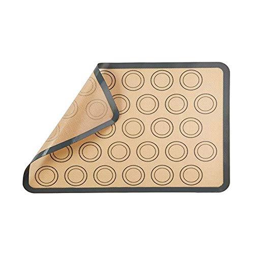 Dyna-Living Silikon Backmatten, BPA-frei Macarons Backmatte Hitzebeständig Antihaftbeschichtet, Wiederverwendbare für Macaron Keks/Kuchen/Brot/Pizza Matte, 42 * 29.5cm (Grau)