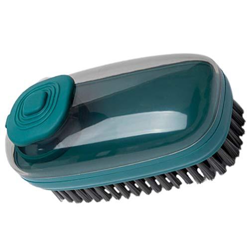 Cabilock Cepillo de Lavado de Macetas Cepillo Hidráulico de Cerdas Suaves Limpiador de Platos Multiusos para La Cocina Zapato de Ropa de Lavandería para El Hogar (Verde Oscuro)