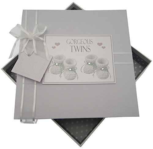 White Cotton Cards Gorgeous mains, Album Photo Taille M, argent, Chaussons