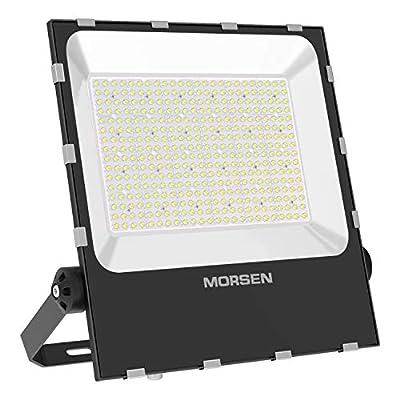 MORSEN 400W LED Flood Light Outdoor, Super Bright LED Stadium Lights with Plug, 48000LM 5000K Daylight White, IP65 Waterproof Floodlights