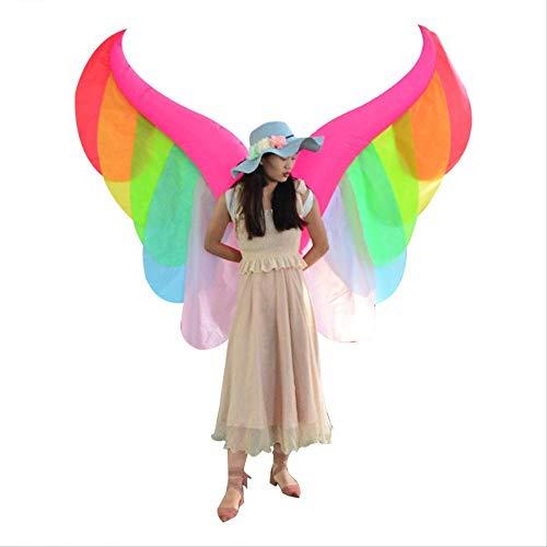 LQH Traje Inflable Nuevo ngel, ngel de Cosplay inflables Flor de Mariposa Alas Mostrar Complementos Disfraz