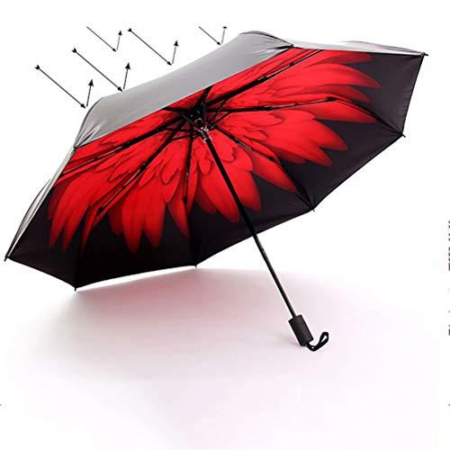 De nieuwe opvouwbare reisparasol, parapludoek met hoge dichtheid en stevige parasolstokken om je koel te houden in de hete zomer