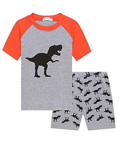 Bricnat Jungen Eat Sleep Game Repeat kurz Schlafanzug 9 bis 13 Jahren Gamer Pyjama schwarz
