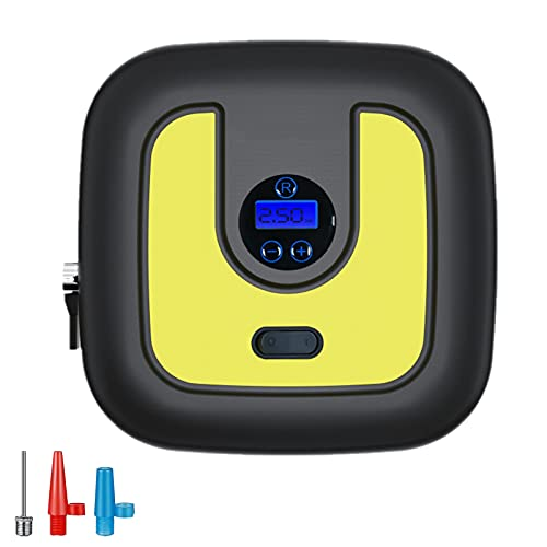 Compresor de aire portátil Bomba de inflador ruedas coche 12V Inflador eléctrico...