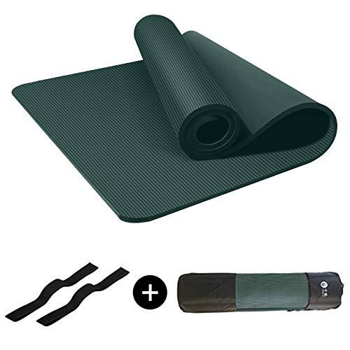JIAOAO 1 unid 1 cm verde Fitness equipo gimnasio ejercicio Mat espesor Yoga Mat para pilates NBR espuma