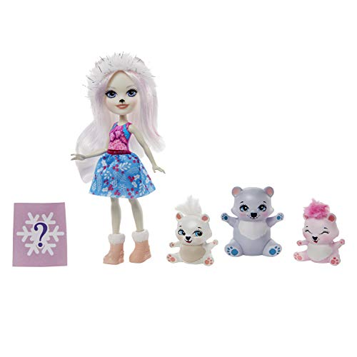 Enchantimals Pristina Polar Bear MUÑECA Y Familia (Mattel GJX47)