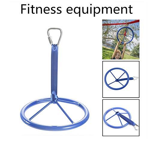 CampHiking Kinder Klimmzugstange Arm Kraftübungen Ninja Rad Fitnessgeräte Für Kinder Klettertraining Hängen Outdoor Gym, 10,6 Zoll, Belastung Bis Zu 200 Kg