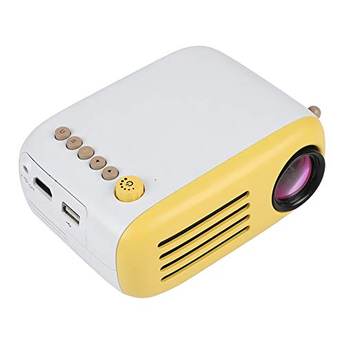 fosa Portable Mini Projector with Remote Control for Home Theater Entertainment HD 1080P LED Video Projector Support HDMI USB Remote Control with Computer Phones (us Plug)