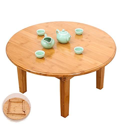 SH-tables Faltbare Bambustisch, Japanischer Haushalt Runder Tisch, Computertisch, Schreibtisch, Niedrige Bambus-Tabelle, Multi-Funktions Kleiner Esstisch, Verschiedene Größen (Size : 80×37cm)