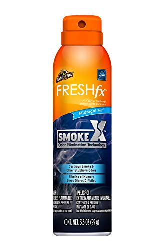 Armor All Smoke X Car Air Freshener and Purifier - Odor Eliminator for Cars & Truck, 3.5 Oz Spray Bottle, Midnight Air, 18960