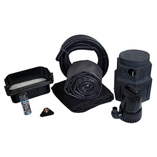 HALF OFF PONDS Complete 3300 Pond Free Waterfall Kit, with 7.5 ft by 15 ft EPDM Liner and 3,300 GPH Manta Series Submersible Pump - PSH50