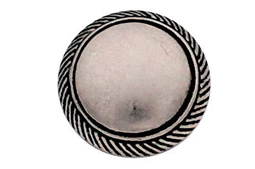 Nette Silber gewölbte Metall Knöpfe mit hübschem Rand Ösenknöpfe (5 Stück) (18mm)