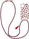 [アイフォリア] iPhone11対応 TPU Necklace Case-Transparent Hearts レッド [並行輸入品]