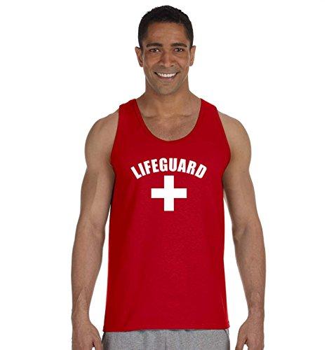 Lifeguard Tank Top Life Guard YMCA Pool Staff (2XL Large, Red)
