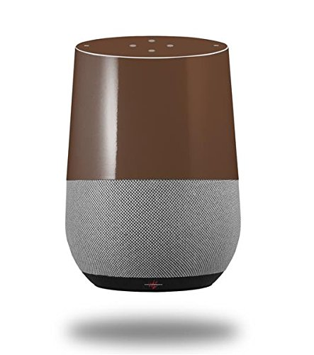 Solids Collection Chocolate Brown - Decal Style Skin Wrap fits Google Home Original (GOOGLE HOME NOT INCLUDED)