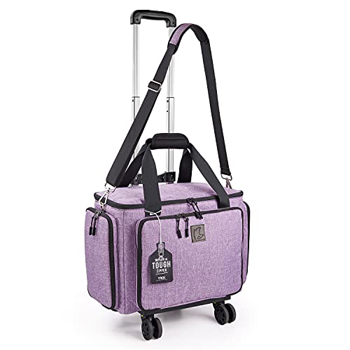 Sewing Machine Case with Detachable Dolly, Rolling Sewing Machine Tote with YKK Zippers, Sewing Machine Carring Bag with Wheels Fits for Most Standard Sewing Machines and Accessoriess