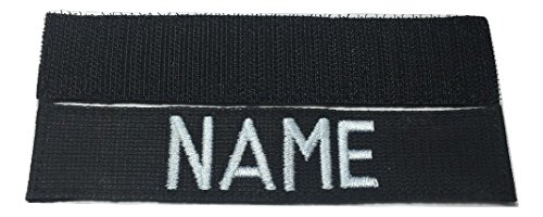 JSM Auto USAF Name Tape or USAF Tape, with Fastener, ABU, OD Green, Desert Tan, White, Black (Black)