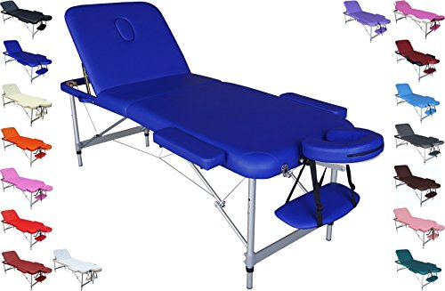 POLIRONESHOP EUROPA Lightweight professional folding portable massage table aluminium (blue)