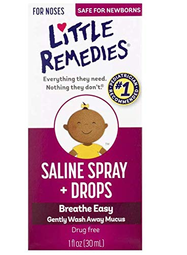 Little Remedies Noses Saline Spray Drops, 1 Fl Oz (Pack of 4)