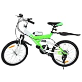 MuGuang Mountain Bike Bambina 20 Pollici 21 velocità Mountain Bike Vieni con Bollitore da 500cc per Bambini dai 7 ai 12 Anni (Verde)