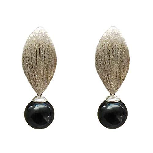 Akoya Perlen Ohrringe tahiti-schwarz hängend Ohrstecker Silber 25