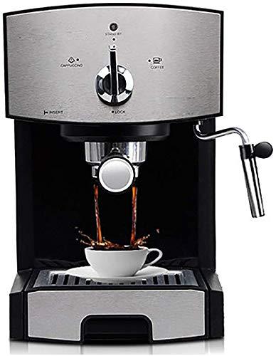 Couyy De beste keuze voor filterkoffie en cappuccino latte koffiezetapparaat, stoomschuim, stoombuis, afneembare lekbak, waterreservoir, filterbeker