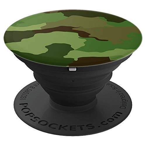 Tarnfarbe | für Handy | Bundeswehr - PopSockets Ausziehbarer Sockel und Griff für Smartphones und Tablets