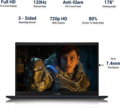 Asus VivoBook Gaming F571LI-AL146T (2020) (Core i7 10th Gen /8 GB/1 TB HDD/256 GB SSD/Windows 10 Home/4 GB Graphics/NVIDIA Geforce GTX 1650 Ti/15.6 inch 120 Hz/Star Black/2.14 kg)