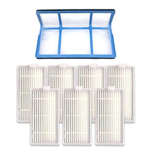 hanfang Filtro primario Filtro Hepa eficiente para Chuwi Ilife V5s V3 V3s V5 Pro V50 V55 (Blanco)