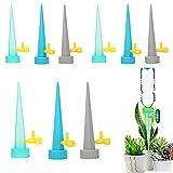 BLBK Automatisch Bewässerung Set,12 Stück Einstellbar Bewässerungssystem,Topfpflanzen Garten zur Pflanzen Blumen Zimmerpflanzen Bewässerung Urlaubsbewässerung Passend für die meisten Flaschen