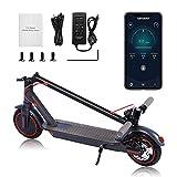 AUKOURLI Elektroroller 350W tragbar E-Scooter mit Straßenzulassung 350W Escooter mit APP &...