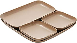 ERTONGHUANBAOCANJU Rice Husk Household Tableware (Size : S)