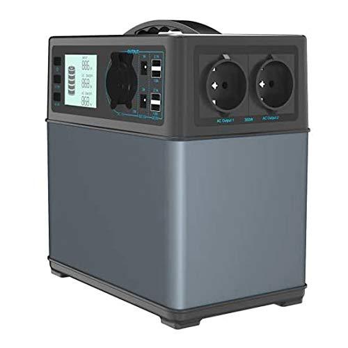 Hochleistungsakku Generator 400Wh Tragbare Energiespeicher mit Lithium-Ionen Zellen Solar Generator(Super Leichtgewicht, nur 5,6 kg,ladbar über die Steckdose, Solarzellen, 12V – Autosteckdose)
