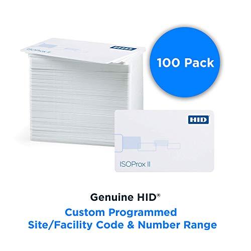 HID 1586 LGGMN ISOProx II sammansatt närhetskort – standard 26 bitars H10301 format, anpassad programmerad plats/anläggningskod och nummerintervall (paket med 100)