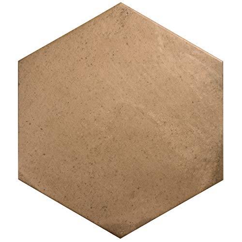 Nais Cerámica para suelos y paredes Colección Terra 29,2x25,4 cm -Caja de 1 m2 (18 Piezas), Hexagon Clay