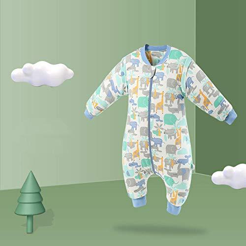 nohbi Decke Kinderwagen Schlafsack,Herbst und Winter Baby Split Leg Schlafsack Anti-Kick,Baby verdickt einteiliger Pyjama-D_M,Neugeborenes Baby Wickeln Swaddle